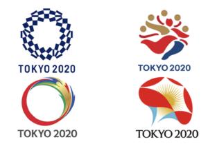 4 kanshebbers ontwerp Olympisch logo Tokyo